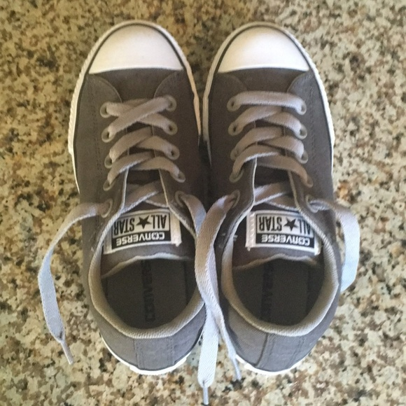 be6b6b221e60c3 Converse Other - Converse Dark Gray Sneakers for Kids